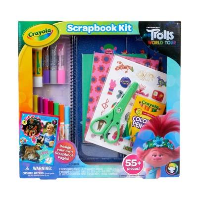 Crayola 55pc Trolls World Tour Scrapbook Kit