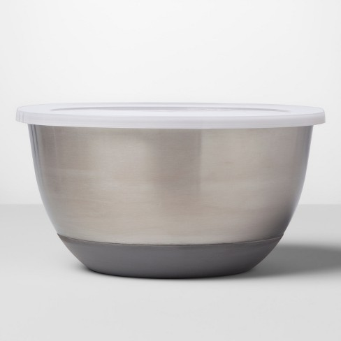 Stainless Steel Non-Slip Covered Mixing Bowl - Made By Design™ - image 1 of 3