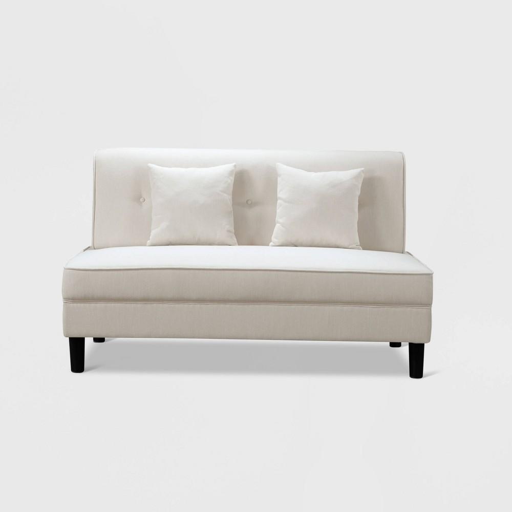 Gretta Fabric Armless Sofa Ivory - Abbyson Living