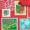 Papyrus Holiday Retro Stamps Large Gift Bag - image 2 of 4