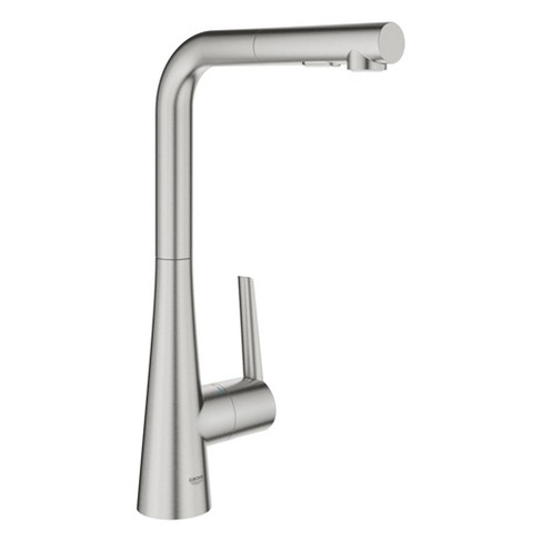Grohe America Inc 33 893 2 Grohe 33 893 2 Ladylux L2 1 75 Gpm Single Hole Pull Down Kitchen Faucet With Silkmove Target