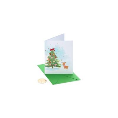 Christmas Card Watercolor Tree - PAPYRUS