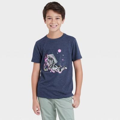 Boys' Astronaut Gamer Graphic Short Sleeve T-Shirt - Cat & Jack™ Navy