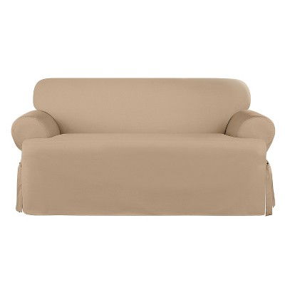 Heavyweight Cotton Duck Loveseat Slipcover - Sure Fit