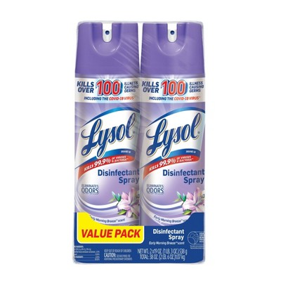 Lysol Disinfectant Spray - Early Morning Breeze - 2pk/19oz