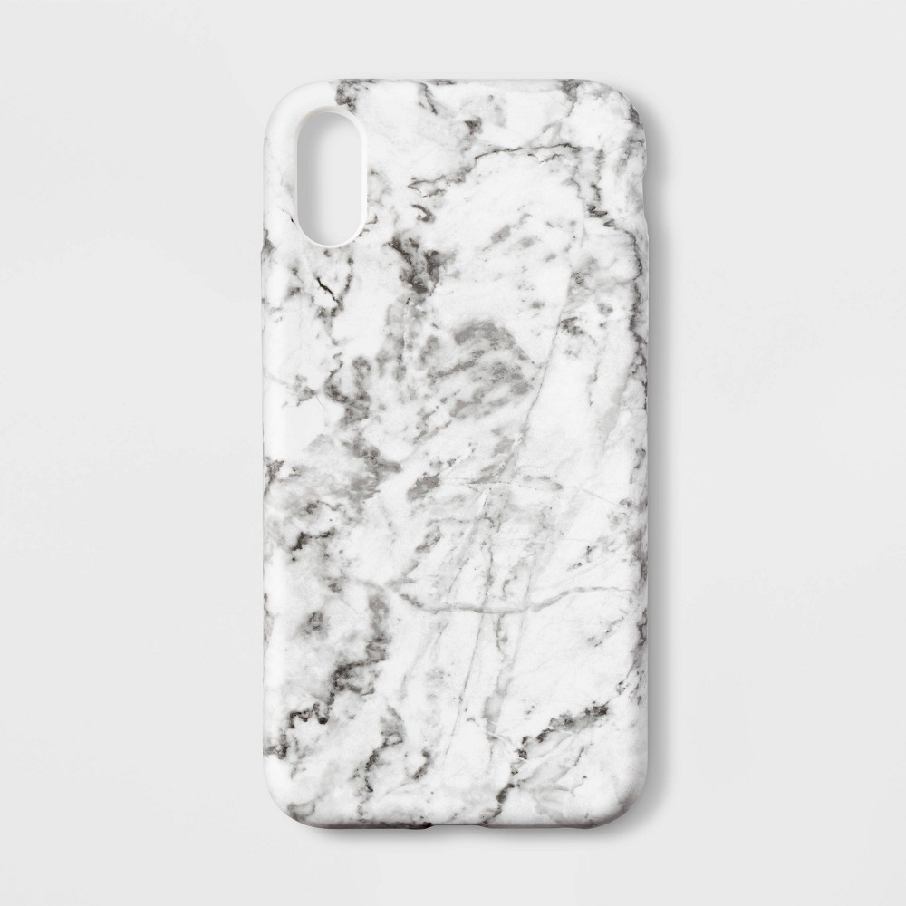 heyday Apple iPhone XR Case - White Marble, Blue