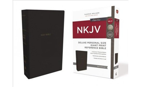Holy Bible : New King James Version, Black, New King James Version Reference Bible, Personal Size, - image 1 of 1
