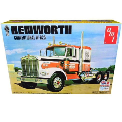 Skill 3 Model Kit Kenworth Conventional W-925 Tractor 1/25 Scale Model by AMT - image 1 of 3