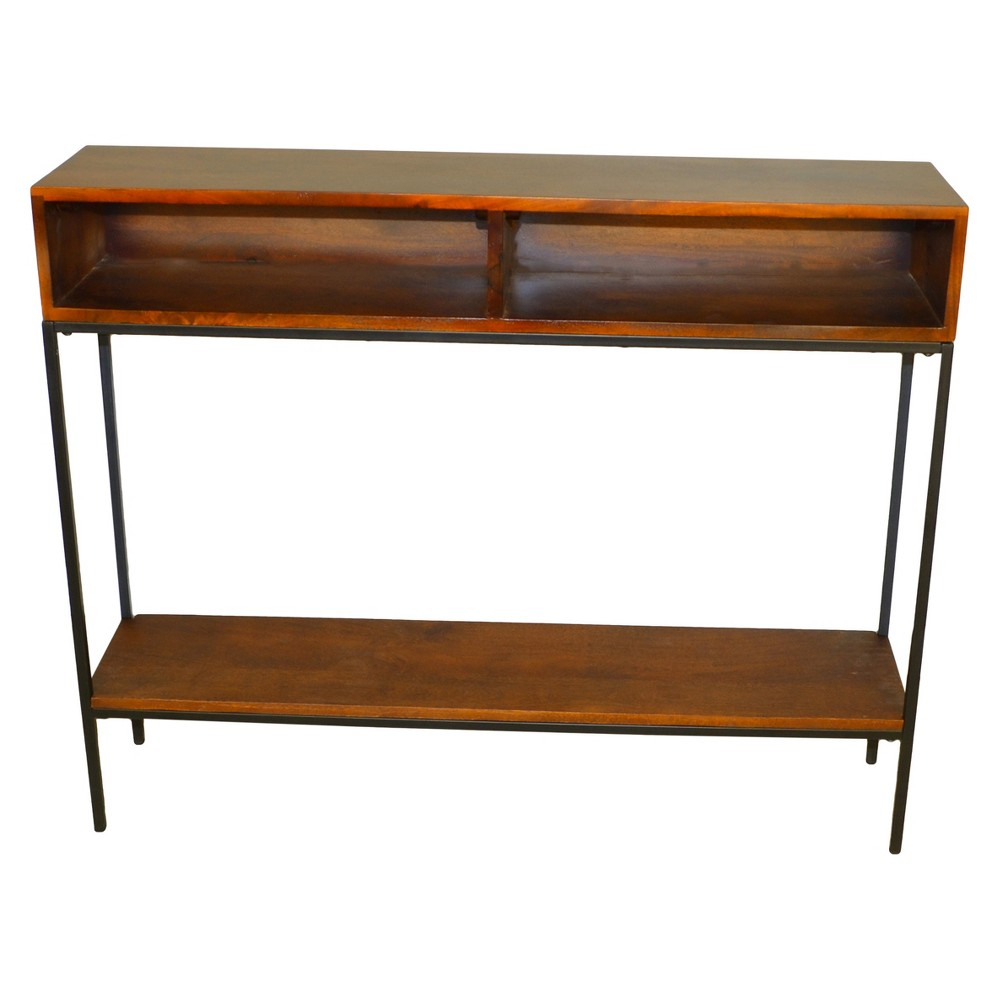 Halsey Console - Chestnut/Black (Brown/Black) - Carolina Chair and Table