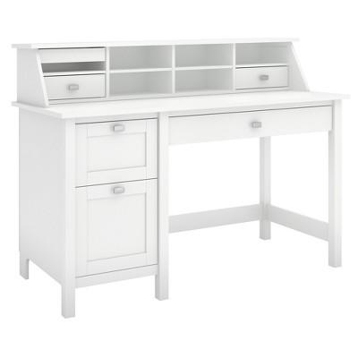 Broadview Computer Desk with 2 Drawer Pedestal and Organizer - Bush Furniture