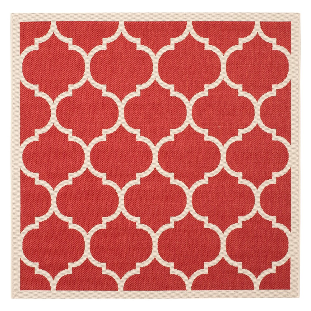 Best 710X710 Square Malaga Outdoor Patio Rug Red Bone - Safavieh