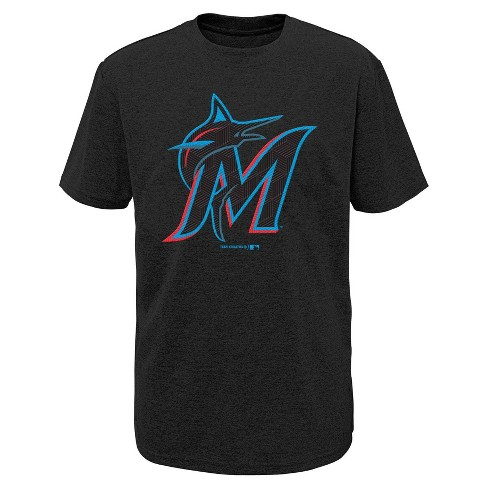 MLB Miami Marlins Boys' Performance T-Shirt with Gel Print - image 1 of 1