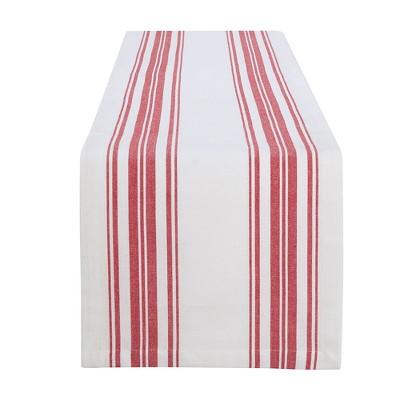 """Farmhouse Living Homestead Stripe Table Runner - 13"""" x 70"""" - Elrene Home Fashions"""