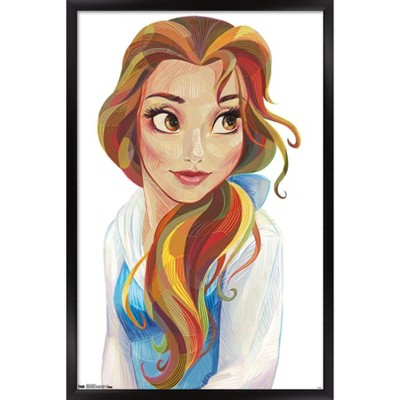 Trends International Disney Beauty And The Beast - Belle - Stylized Unframed Wall Poster Print