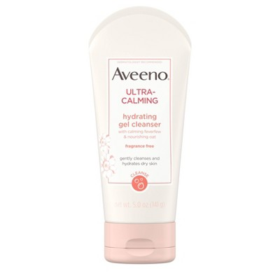 Facial Cleanser: Aveeno Ultra Calming Hydrating Gel Cleanser