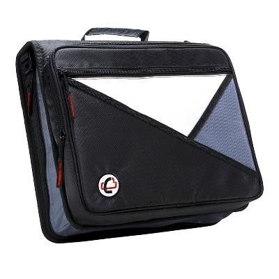 Case-it Universal Laptop Zipper Binder, O-Ring, 2 Inches, Black