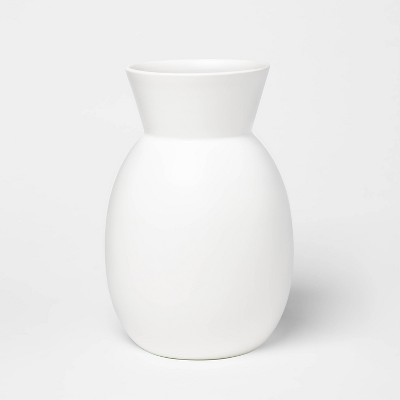 "12"" x 8"" Matte Ceramic Round Vase White - Project 62™"
