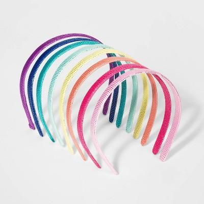 Girls' 8pk Woven Tinsel Headband - Cat & Jack™