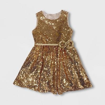 Girls' Disney Belle Dress - Gold - Disney Store