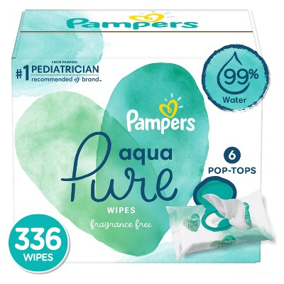 Pampers Aqua Pure Baby Wipes - 336ct