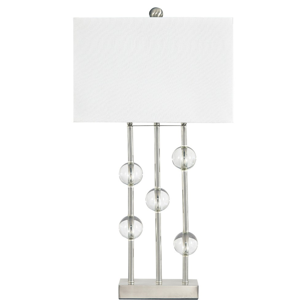 Best Price Jaala Table Lamp ClearSilver Finish Lamp Only Signature Design By Ashley