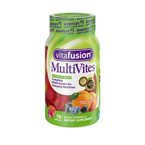 Vitafusion MultiVites Vitamin Gummies - Berry, Peach & Orange - image 1 of 4
