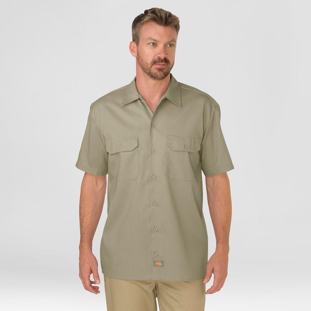 Dickies Men 39 S Tall Short Sleeve Work Shirt Desert Sand Xxl Tall