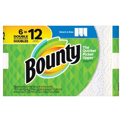 Bounty Select-A-Size Paper Towels - 6 Double Rolls