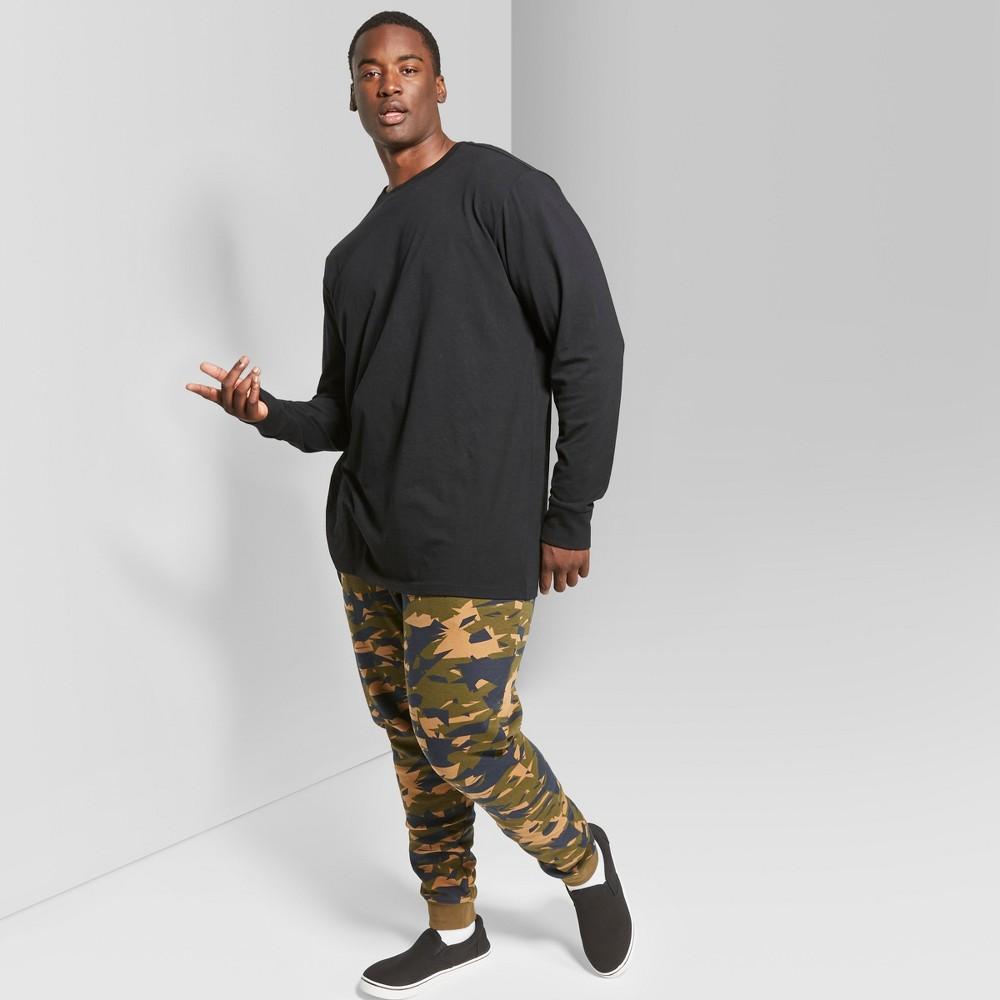 Men's Big & Tall Long Sleeve Boxy T-Shirt - Original Use Black 2XBT