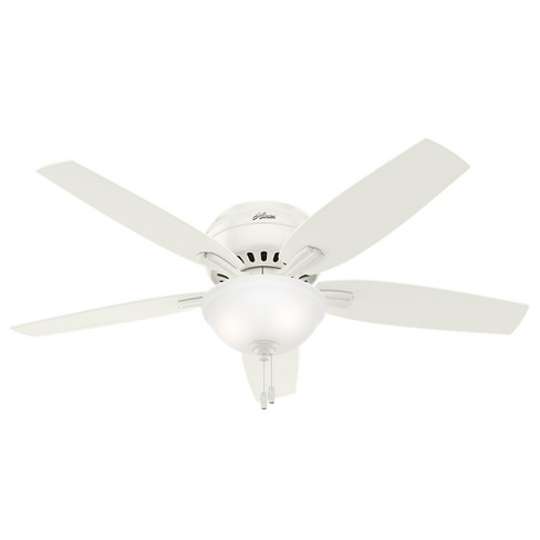 52 Newsome White Ceiling Fan With Light Hunter