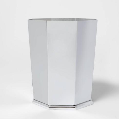 Solid Faceted Wastebasket - Threshold™ - image 1 of 4