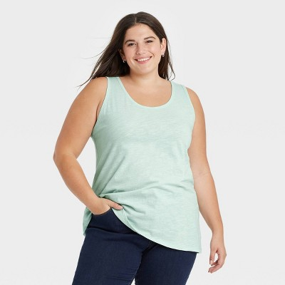 Women's Plus Size Slub Tank Top - Ava & Viv™