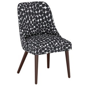Geller Modern Dining Chair Abstract Dot Black - Project 62