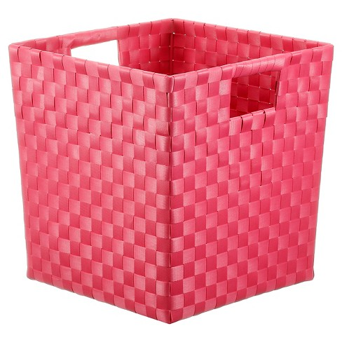 Square Weave Decorative Basket (Small) Pink - Pillowfort™ - image 1 of 1