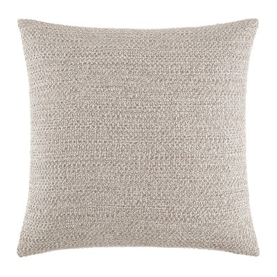 """Kenneth Cole New York Kcny Essentials Throw Pillow, Knit, Linen Ash, 16"""" X 16"""""""