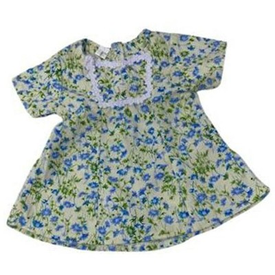 Blue Flower Dress Fits American Girl, Our Generation, My Life Dolls