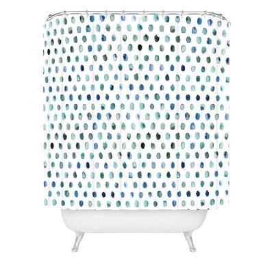 Ninola Design Color Palette Shower Curtain Blue - Deny Designs