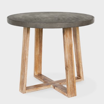 Athens Cement Side Table Gray - Leisure Made