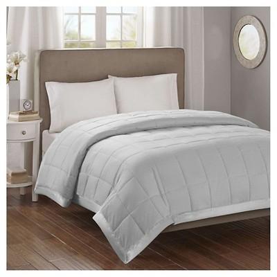 Bed Blanket Parkman Premium Oversized Hypoallergenic Down Alternative with 3M Scotchgard (Full/Queen)Gray