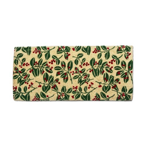 tag Holiday Berries Estate Coir Mat Multi Renewable Coconut Fiber Doormat Christmas Xmas Holiday - image 1 of 4