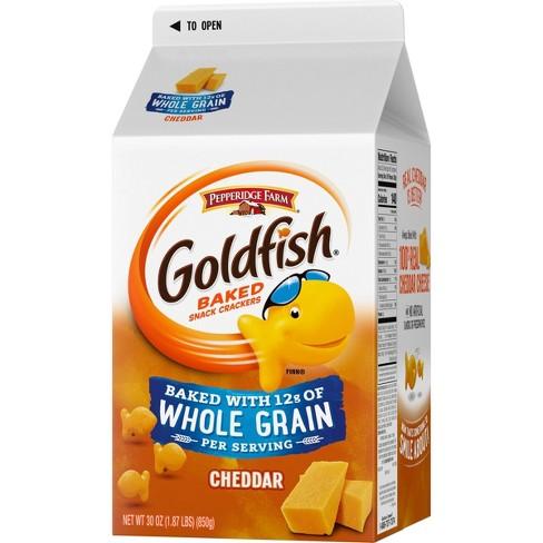 Pepperidge Farm Goldfish Baked with Whole Grain Cheddar Crackers - 30oz Carton - image 1 of 4