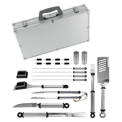 Mr. Bar-B-Q 21 Piece Stainless Steel BBQ Tool Set