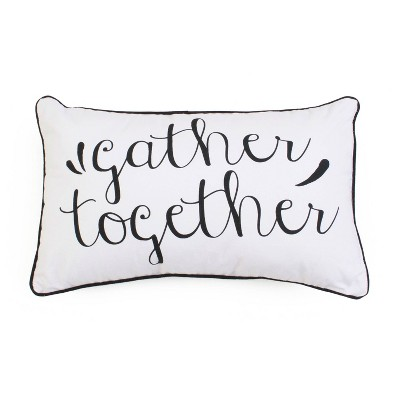 "12""x20"" Gary Gather Lubar Throw Pillow White - Décor Therapy"