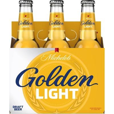Michelob Golden Light Draft Beer - 6pk/12 fl oz Bottles