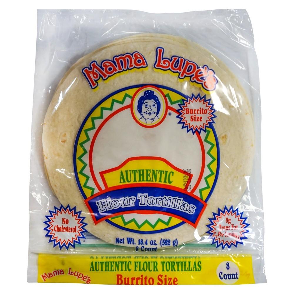Mama Lupes Authentic Flour Tortillas Burrito Sized - 8ct