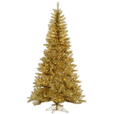 Vickerman Gold/Silver Tinsel Artificial Christmas Tree