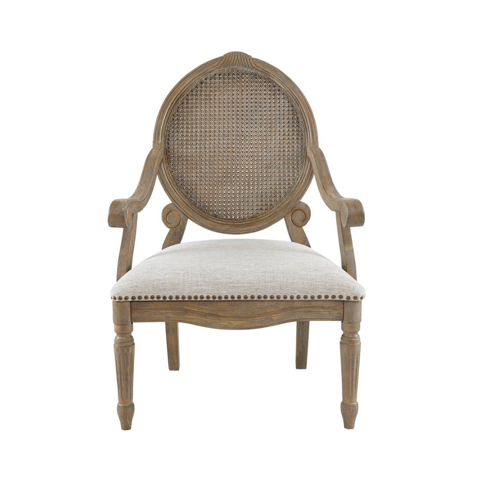 Hudson Cane Chair Beige, accent chairs was $329.99 now $230.99 (30.0% off)