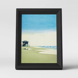 "5"" x 7"" Wedge Picture Frame Black - Room Essentials™"