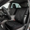 LUNNA 5pc Diamond Black Seat Cover Combo Kit Embellished with Swarovski Crystals - image 3 of 4