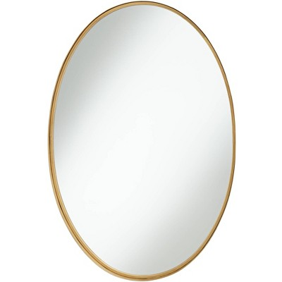 "Noble Park Harnes Gold 24 1/4"" x 36"" Oval Wide Lip Wall Mirror"